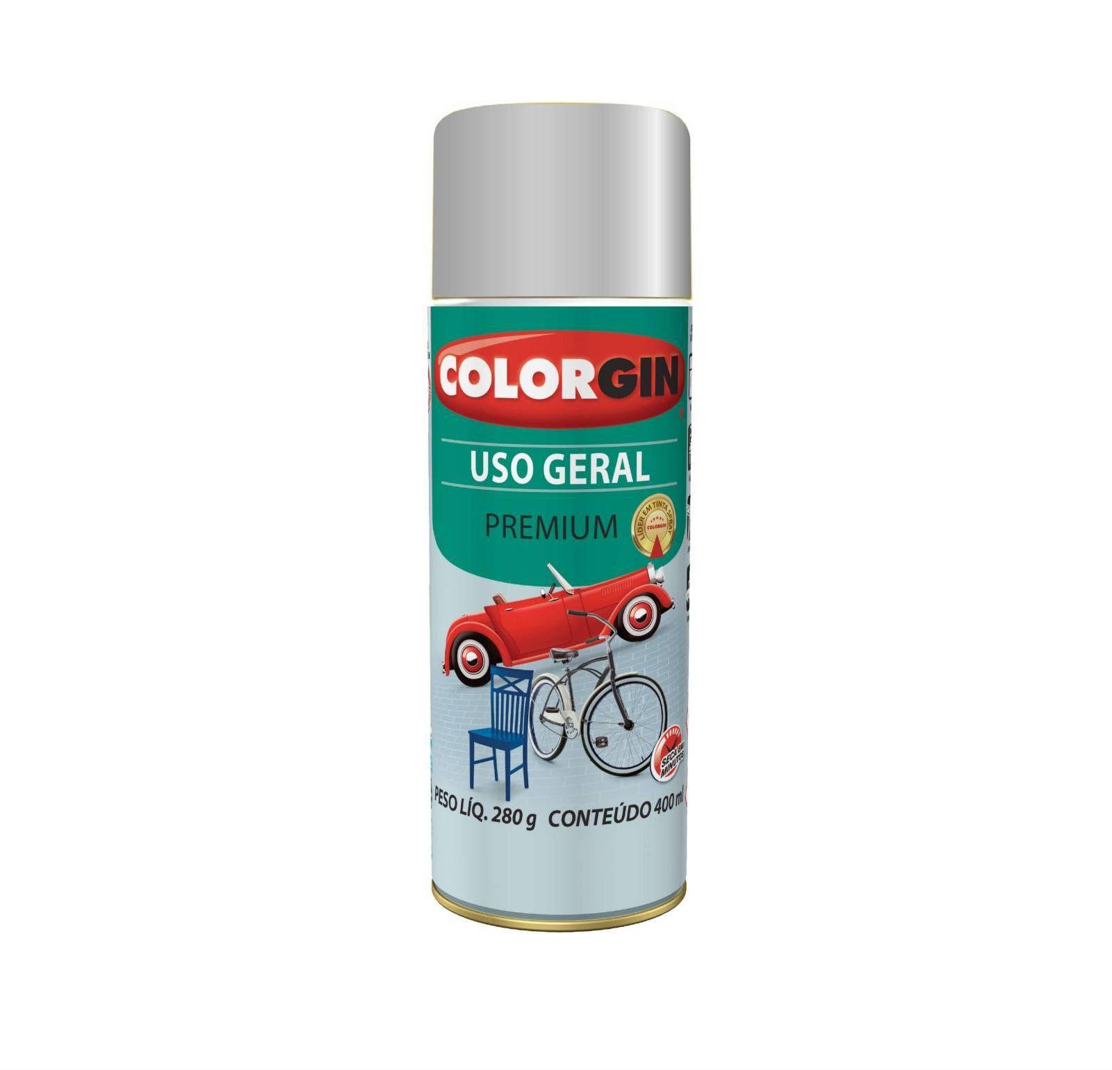 Spray 5706 Uso Geral Prata Real Colorgin