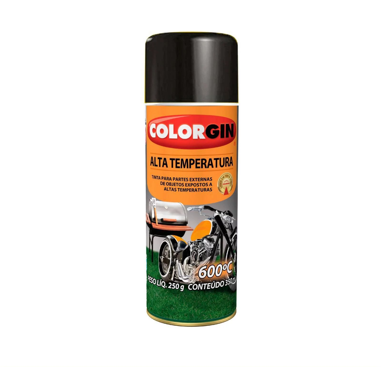 Spray 5722 Colorgin Alta Temperatura 600Gr Preto