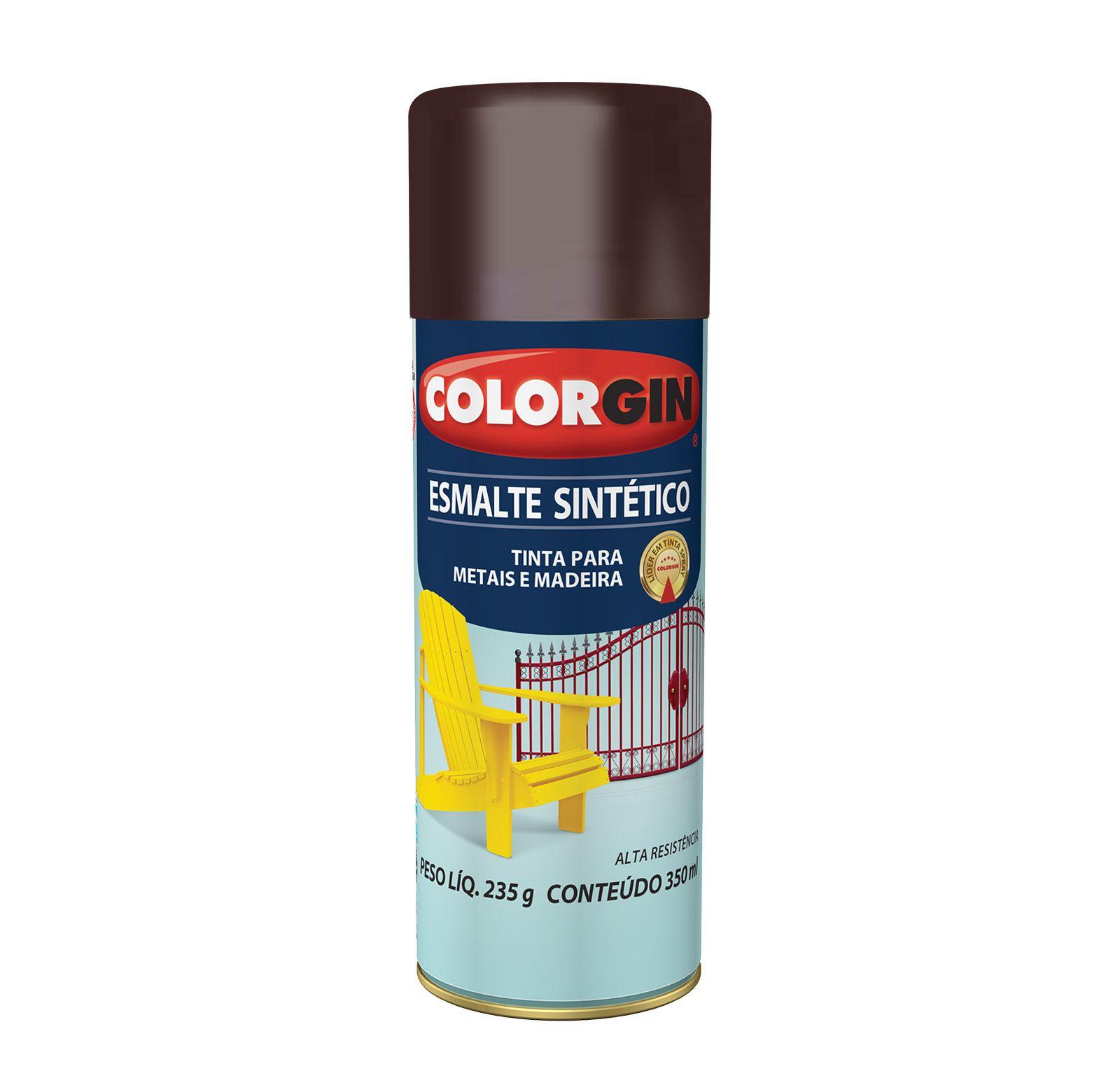 Spray 731 Colorgin Esmalte  Sintético Marrom