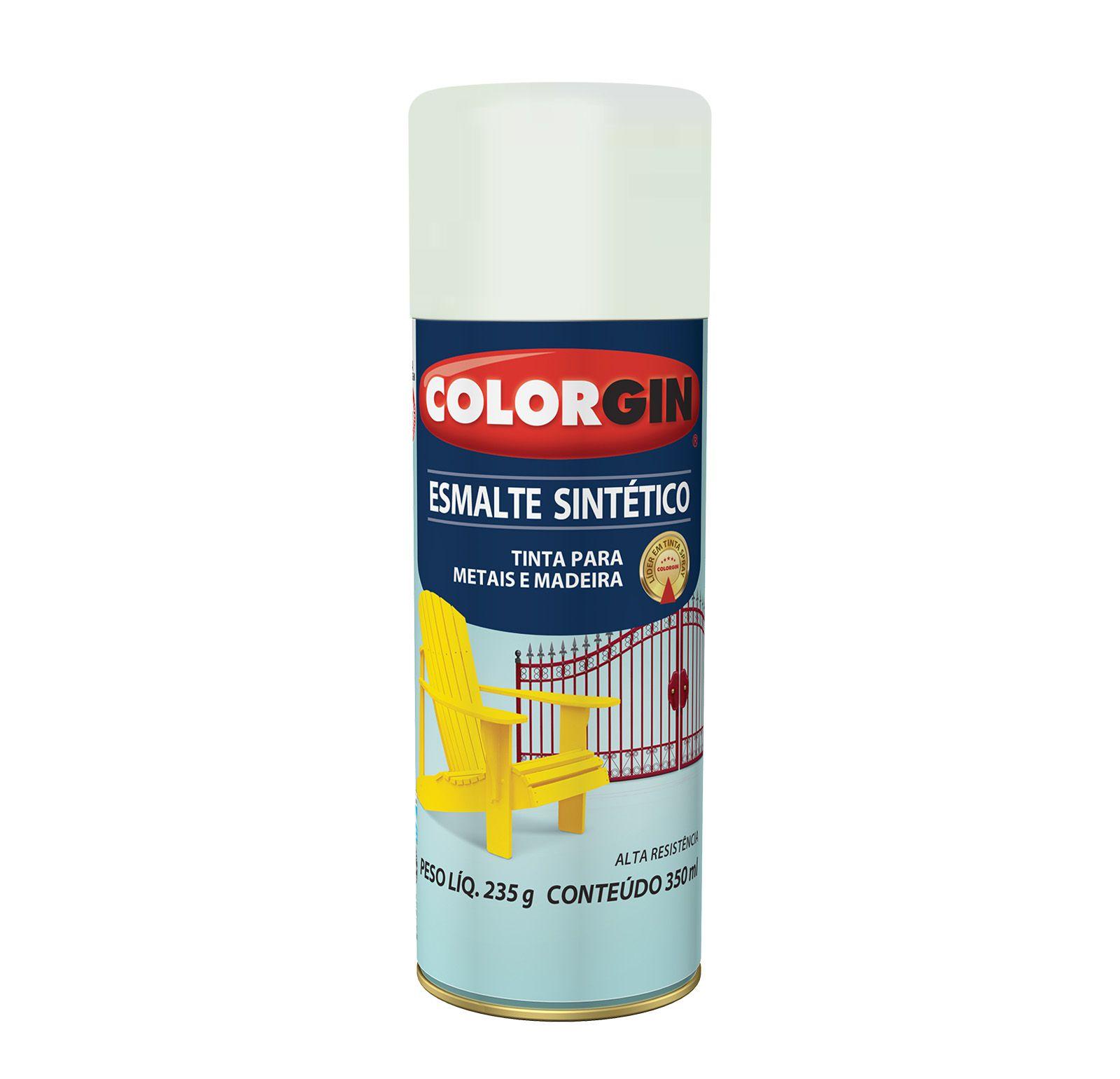 Spray 745 Colorgin Esmalte  Sintético Branco Brilhante.