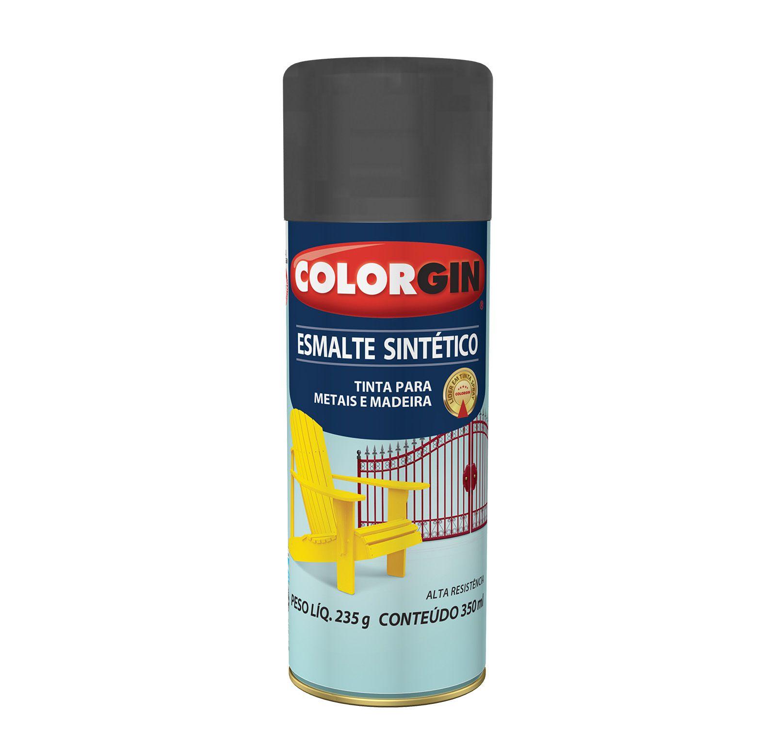 Spray 748 Colorgin Esmalte  Sintético Preto Fosco