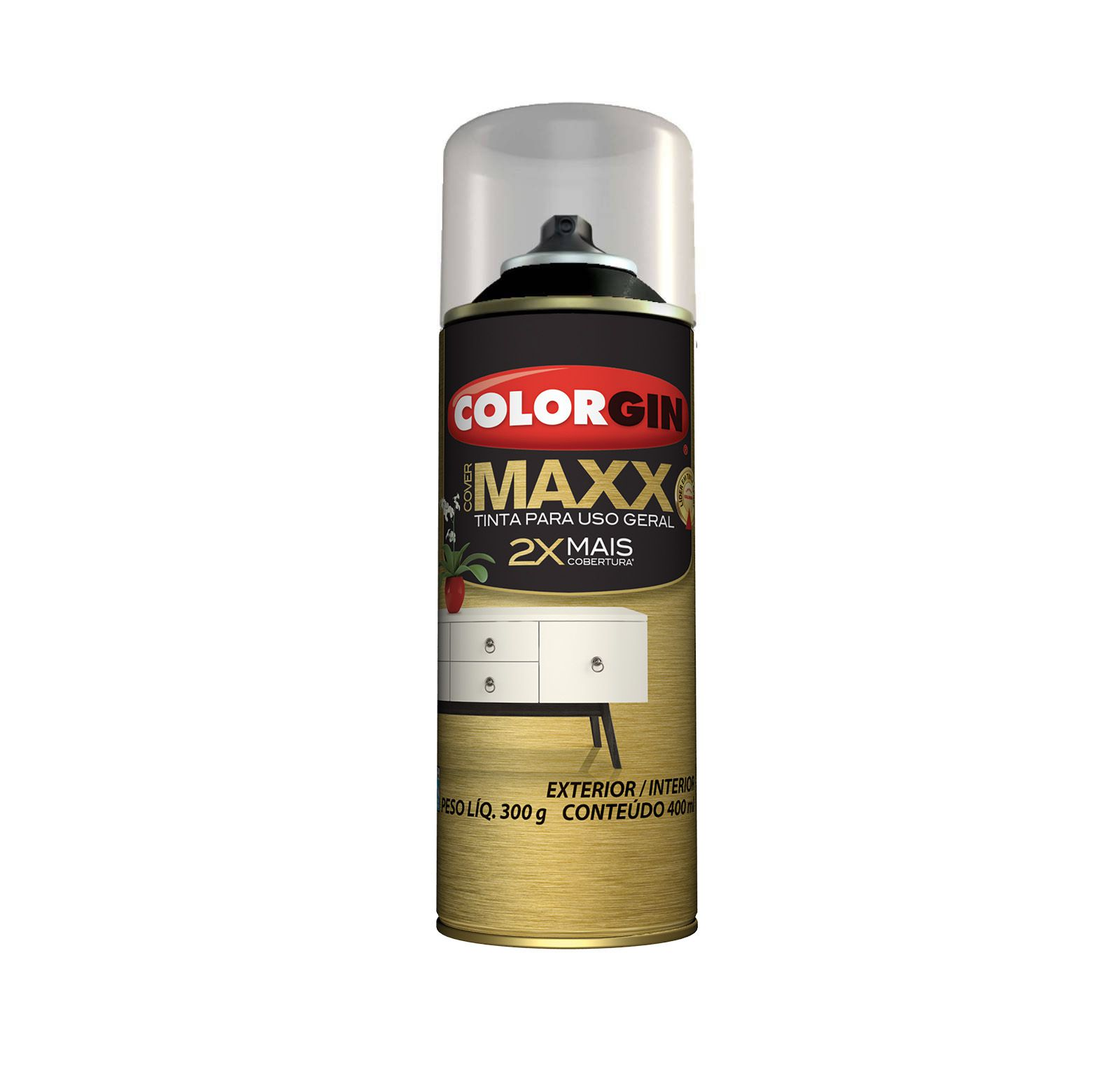 Spray Colorgin Cover Maxx Preto