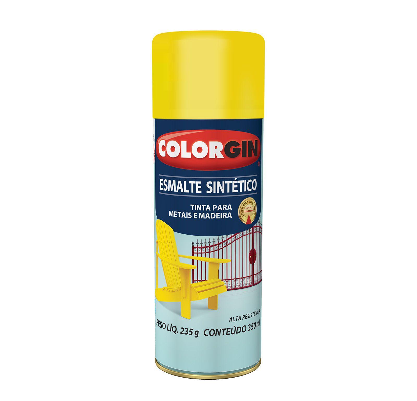 Spray Colorgin Esmalte  Sintético Amarelo 737