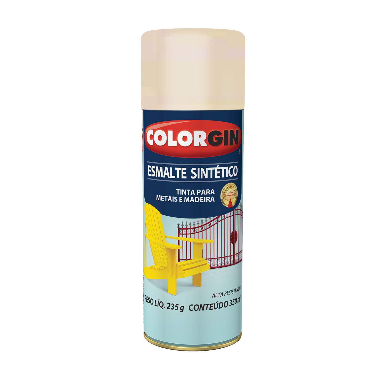 Spray Colorgin Esmalte  Sintético Areia 750