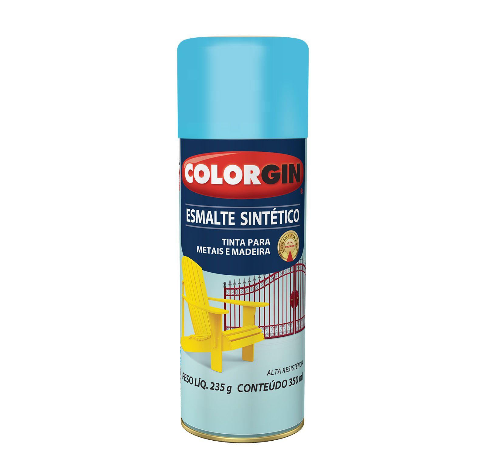 Spray Colorgin Esmalte  Sintético Azul Ceu 735