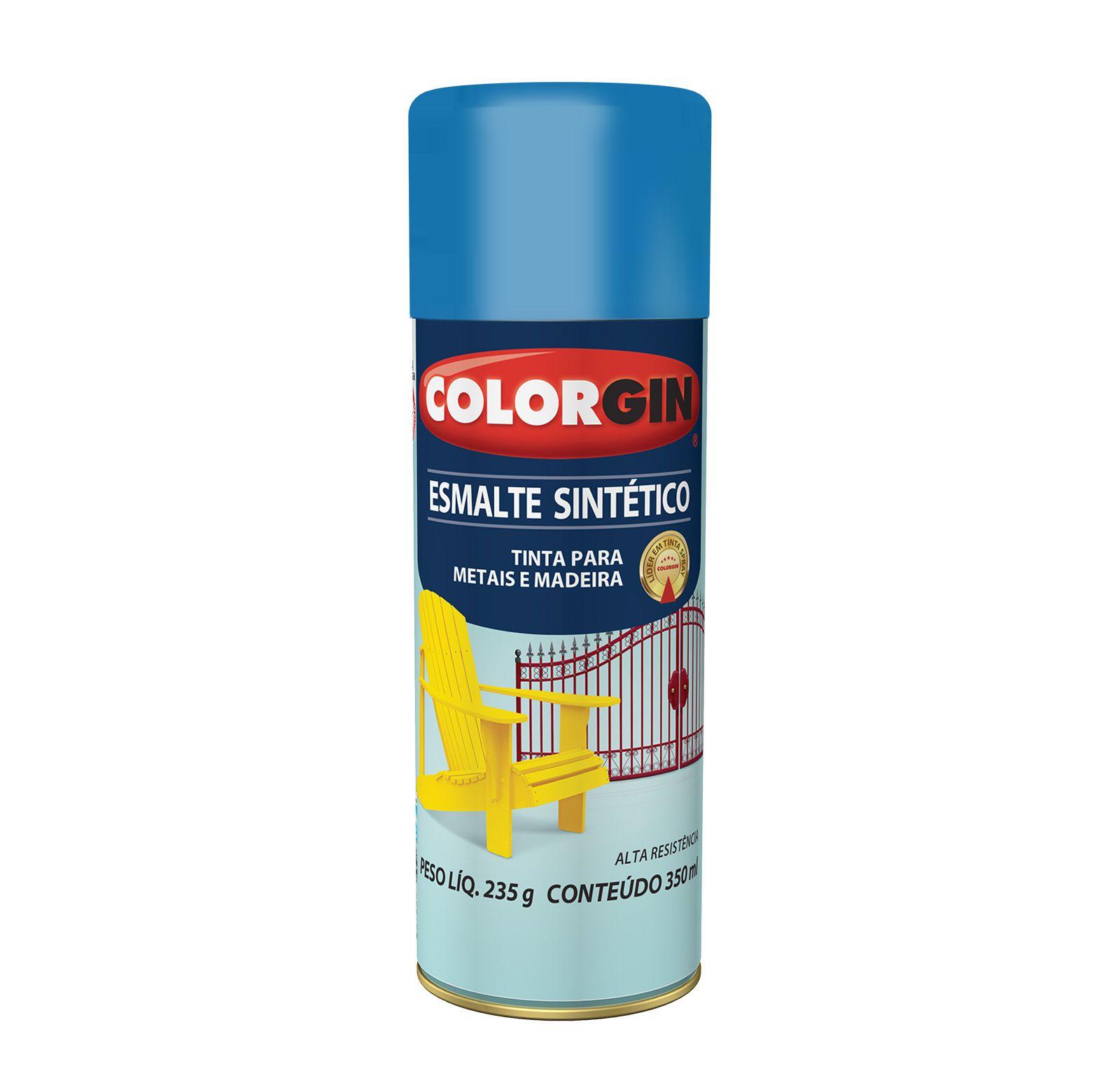 Spray Colorgin Esmalte  Sintético Azul Medio 740