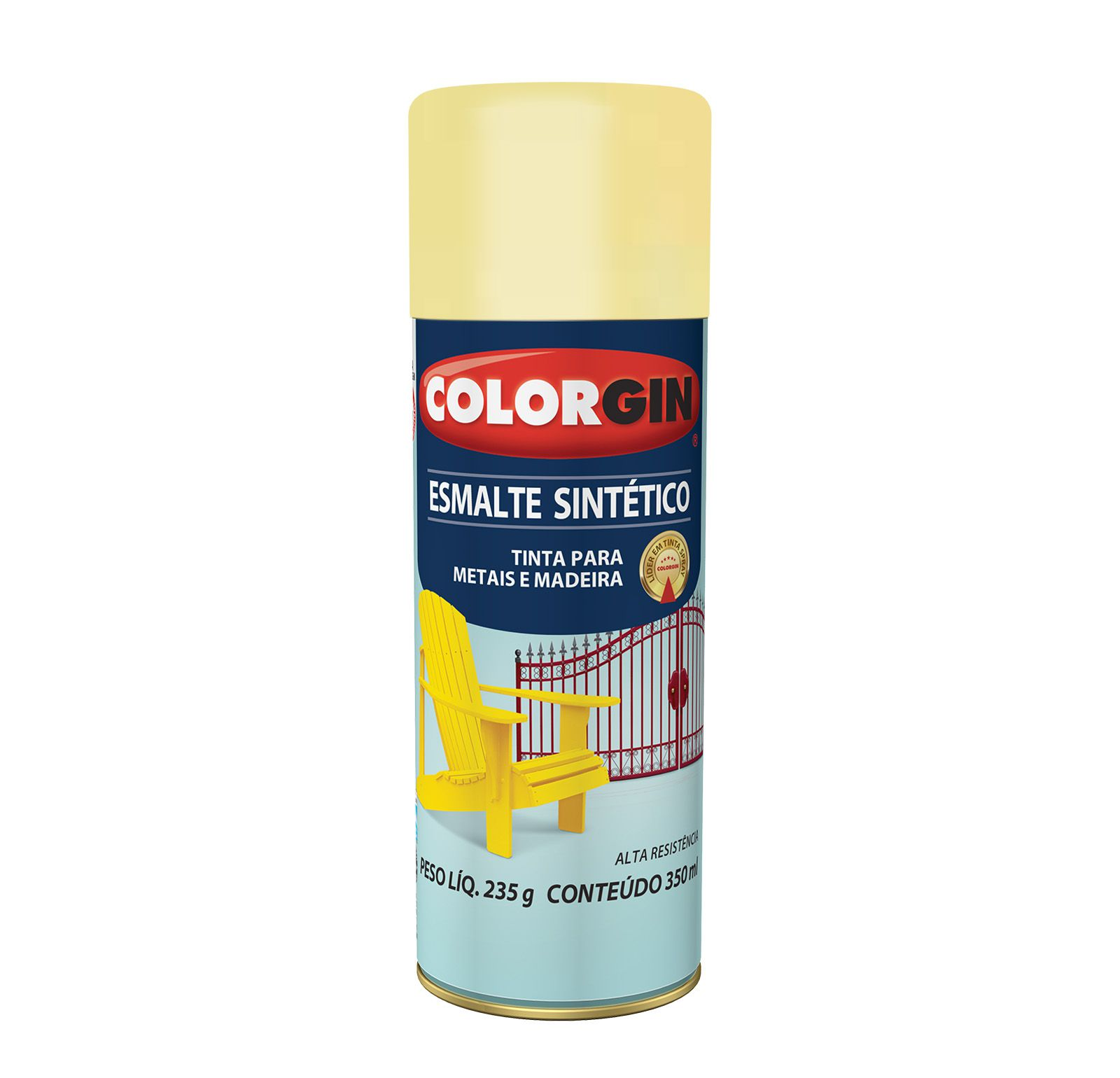 Spray Colorgin Esmalte  Sintético Marfim 733