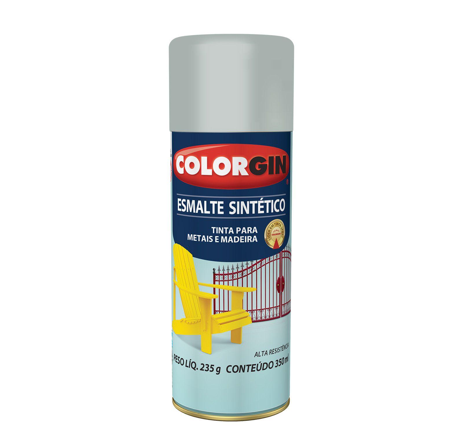 Spray Colorgin Esmalte  Sintético Platina 749