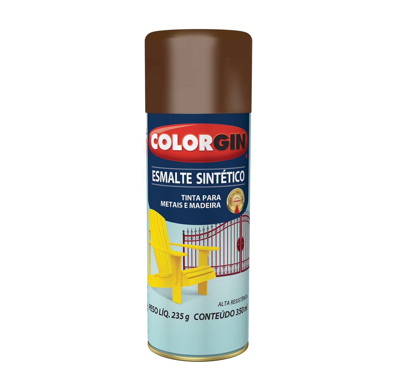 Spray Colorgin Esmalte  Sintético Tabaco 752
