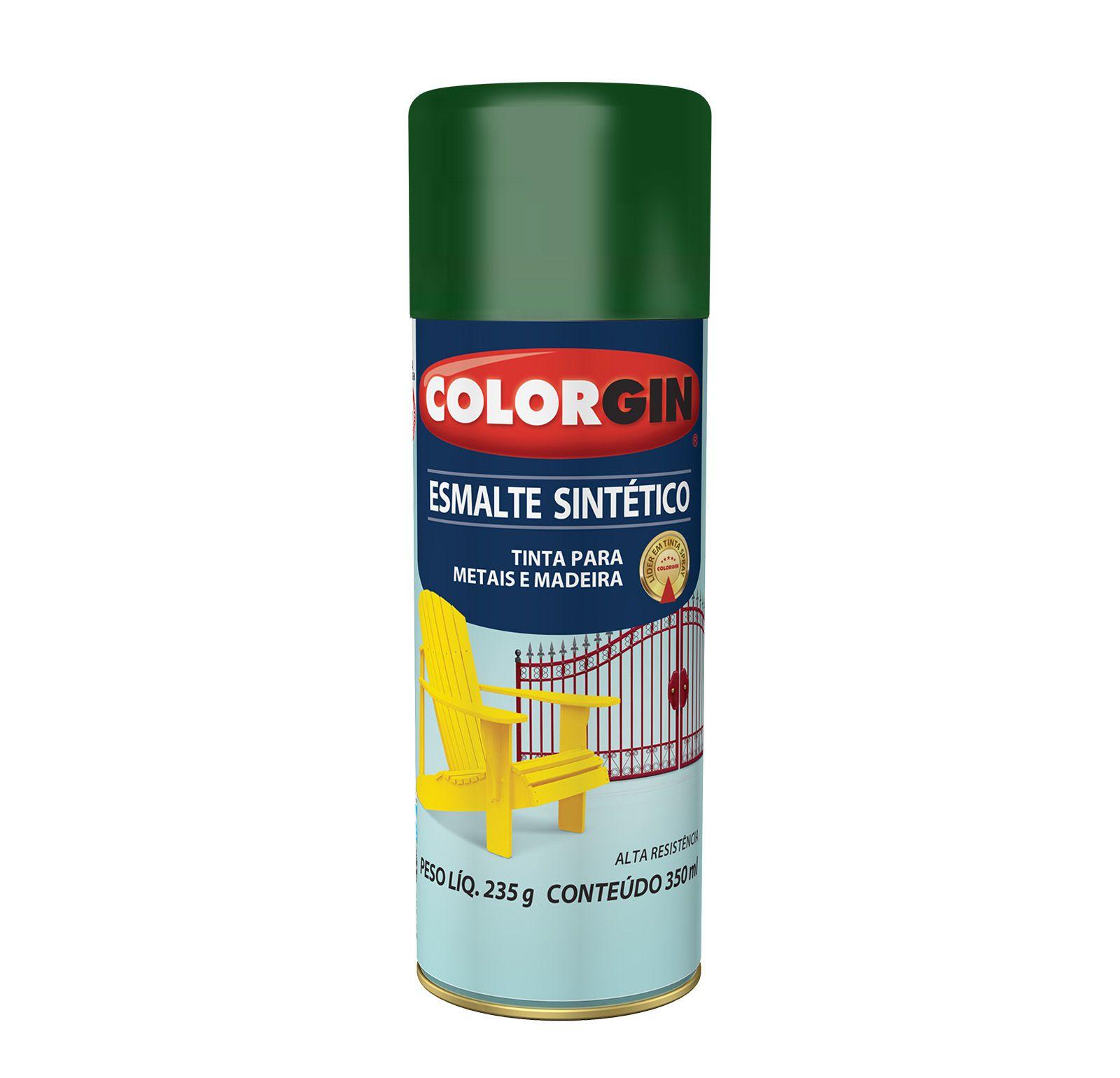 Spray Colorgin Esmalte  Sintético Verde 744