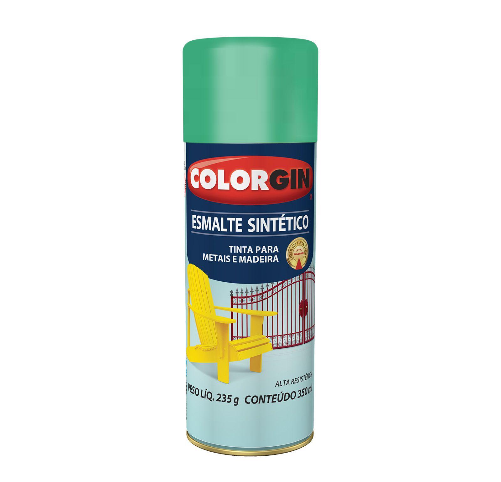 Spray Colorgin Esmalte  Sintético Verde Claro 743