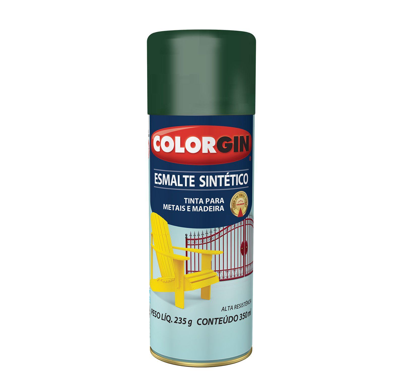 Spray Colorgin Esmalte  Sintético Verde Folha 736