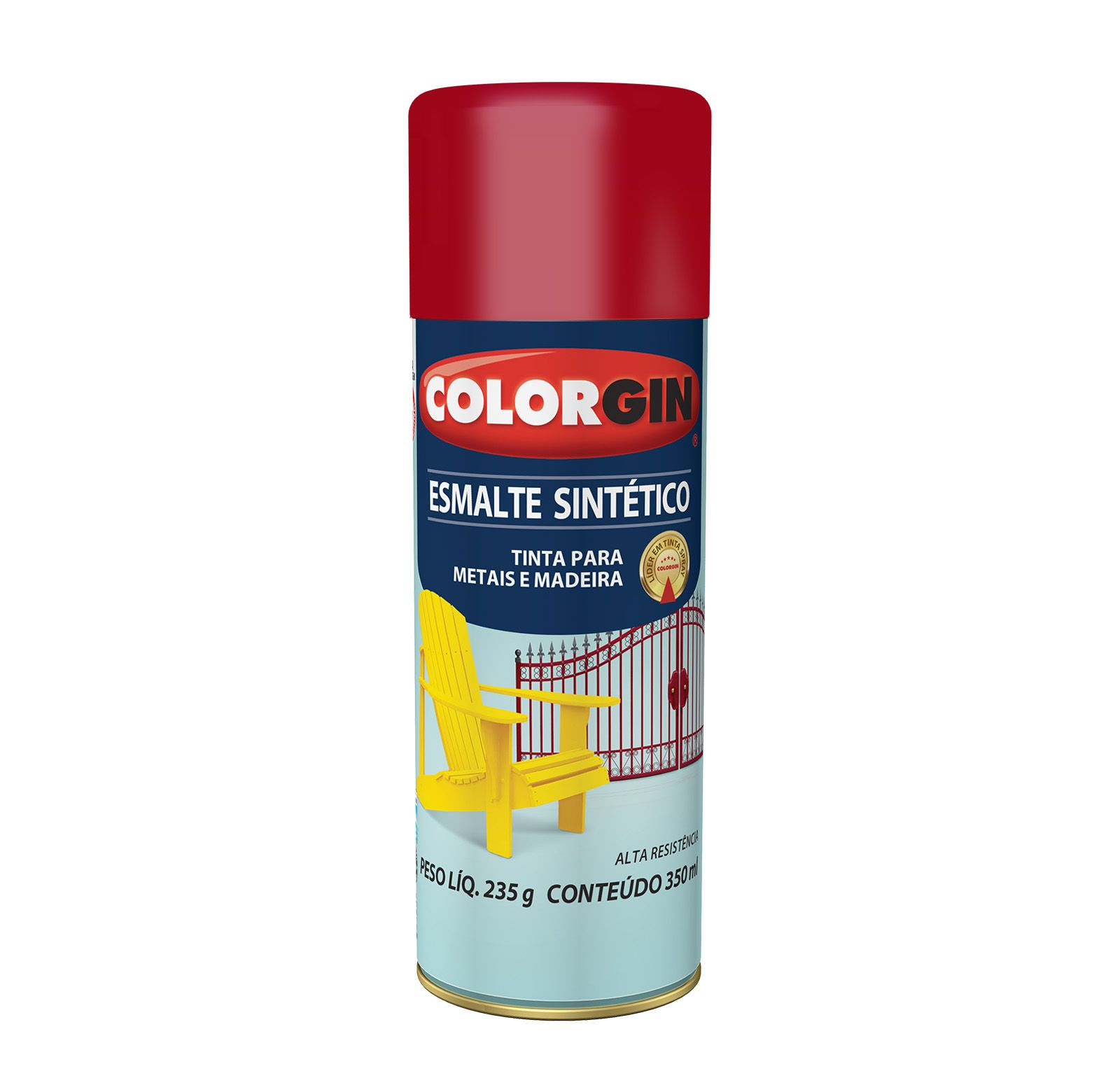 Spray Colorgin Esmalte  Sintético Vermelho 730