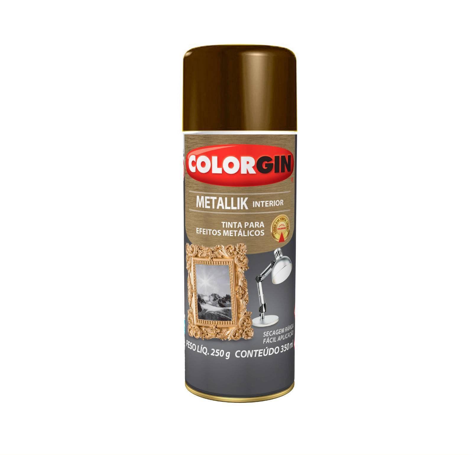 Spray Colorgin Metalik Bronze 55
