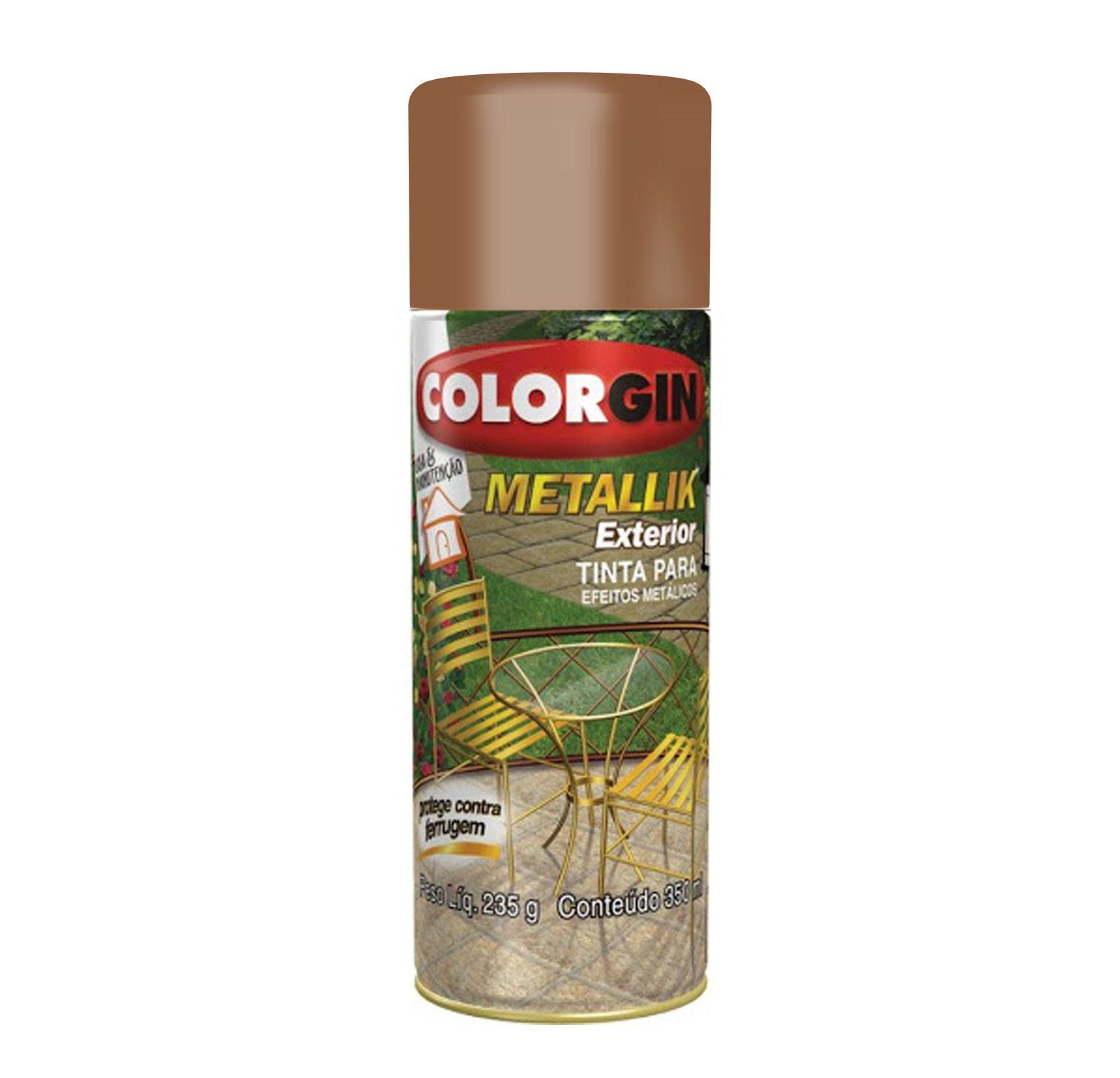 Spray Colorgin Metalik Cobre Metalico 65