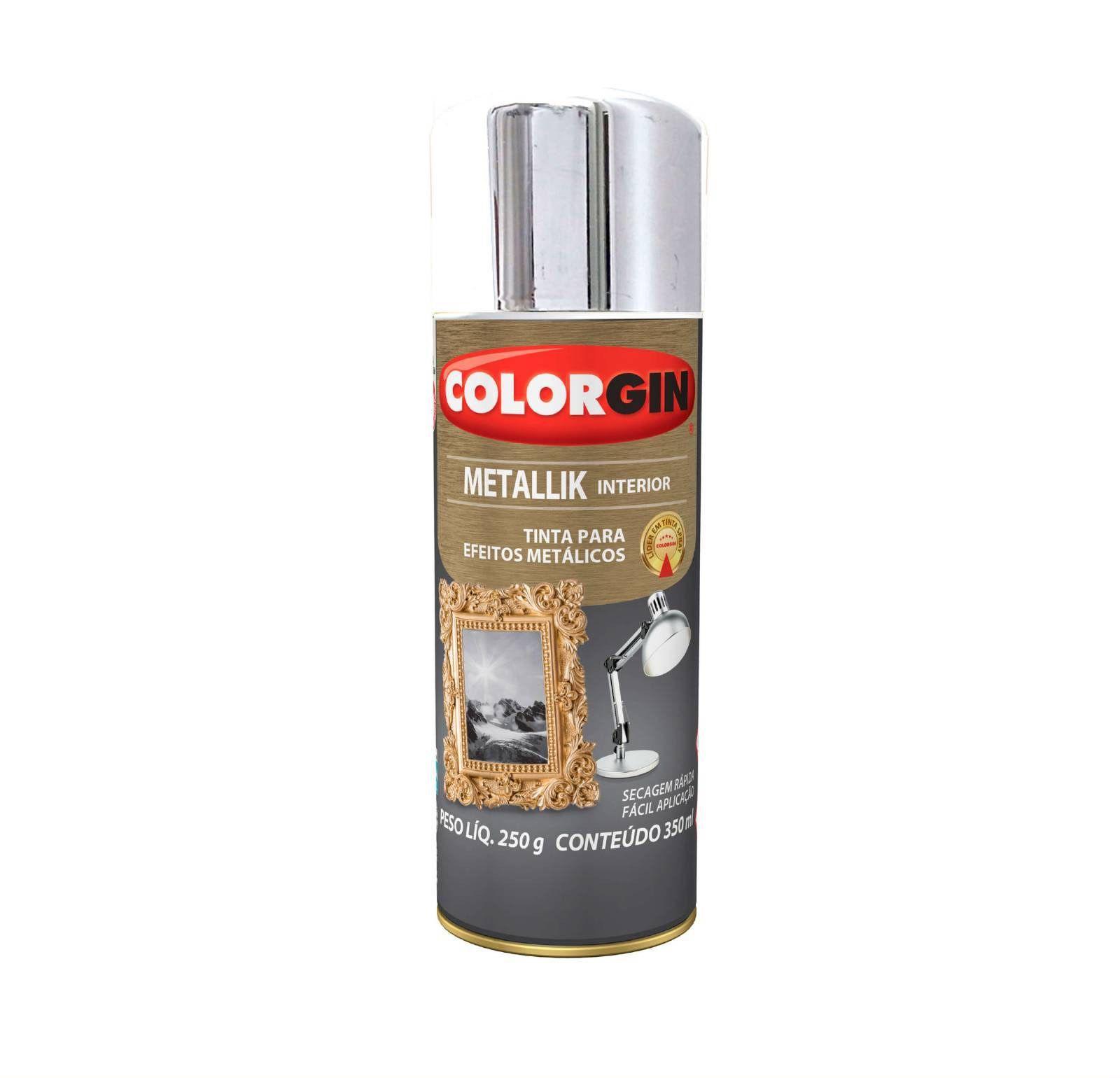 Spray Colorgin Metalik Cromado 51