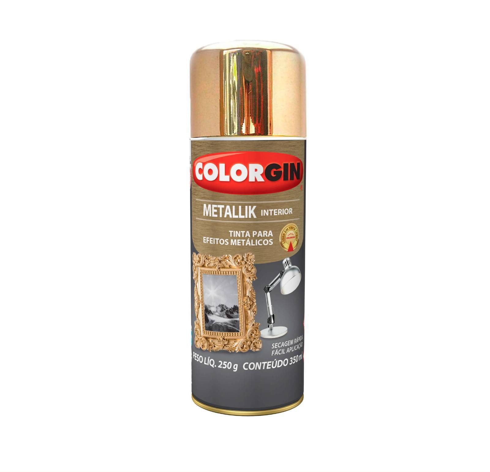 Spray Colorgin Metalik Dourado 57