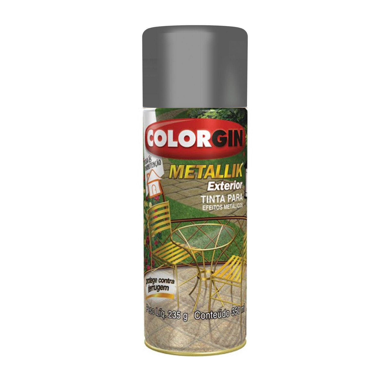 Spray Colorgin Metalik Grafite 66