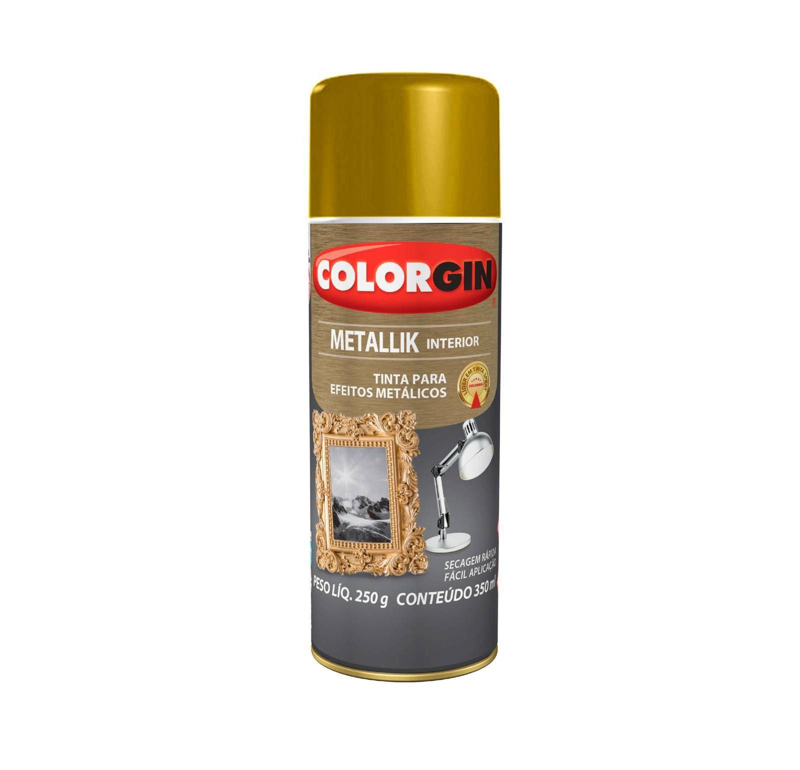 Spray Colorgin Metalik Ouro 52