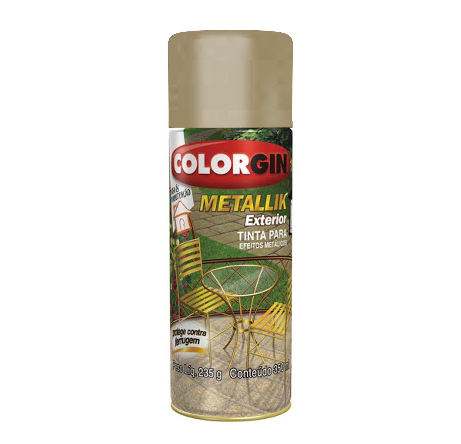 Spray Colorgin Metalik Ouro Metalico 63
