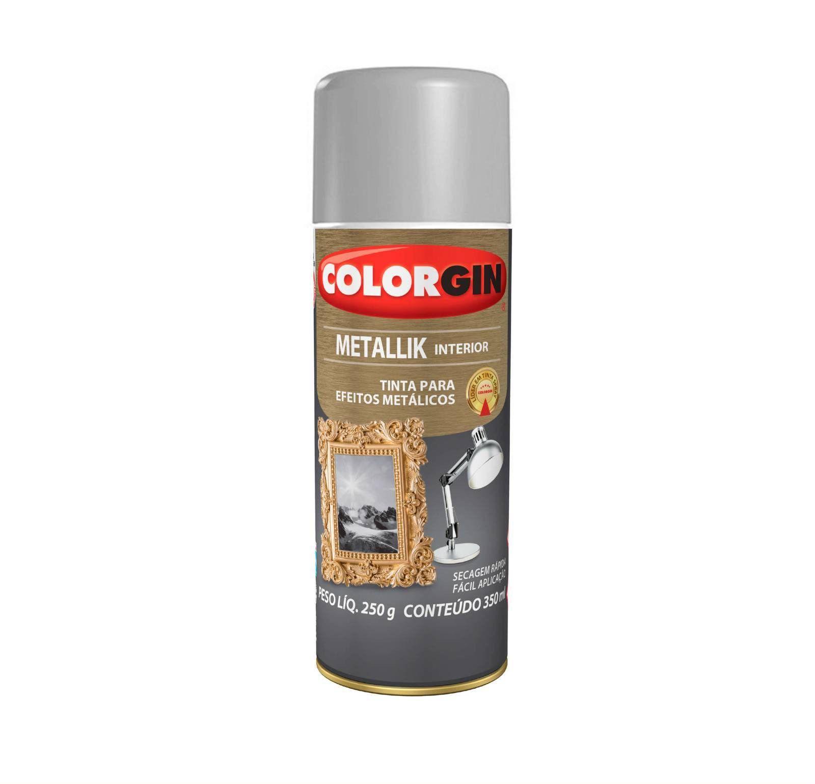 Spray Colorgin Metalik Prata 53