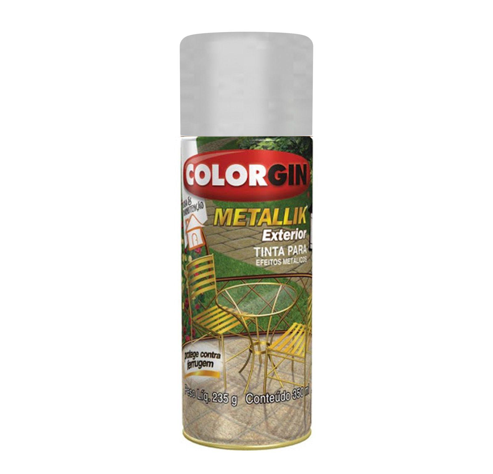 Spray Colorgin Metalik Prata Metalico 64