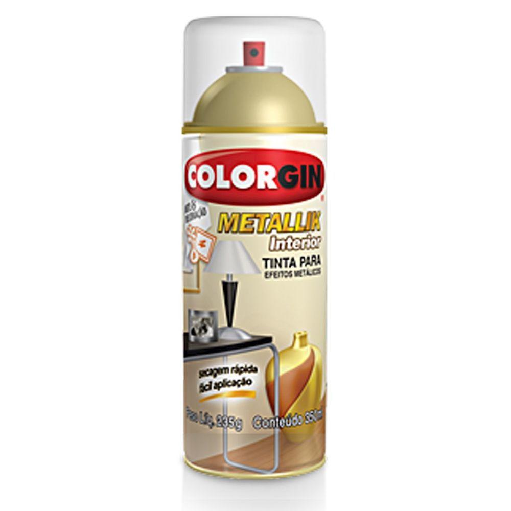 Spray Colorgin Metalik Verniz Incolor Brilhante 58