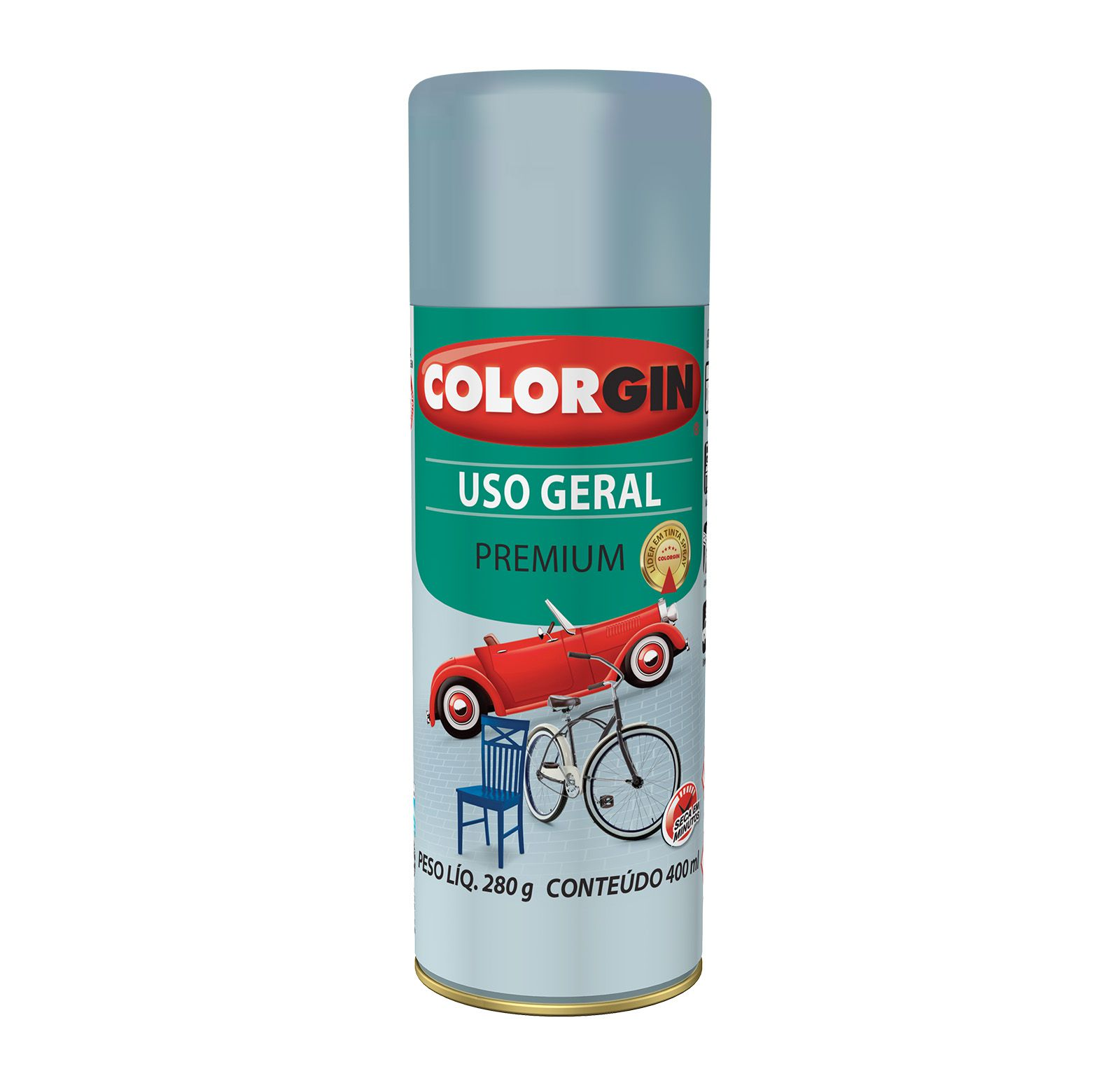 Spray Colorgin Uso Geral Cinza Placa 5504