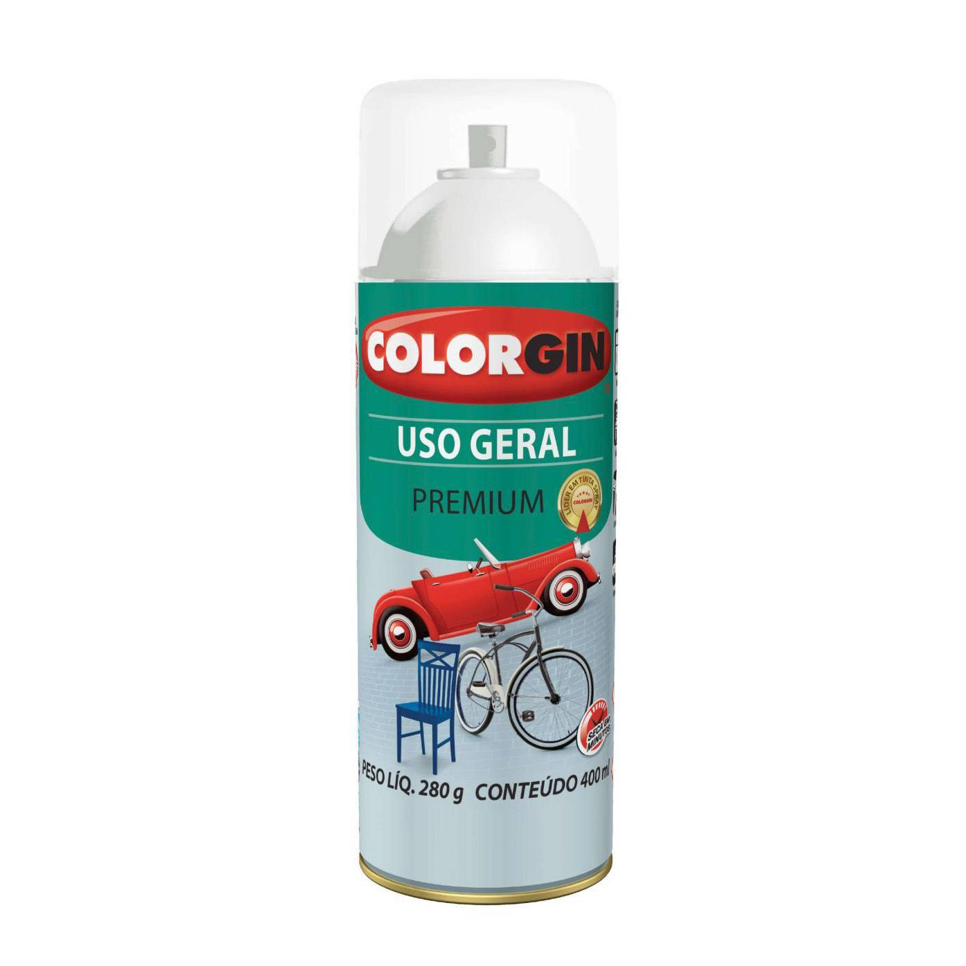 Spray Colorgin Uso Geral Verniz Incolor Brilhante 57051