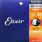 Encordoamento Elixir Guitarra Nanoweb 0.11
