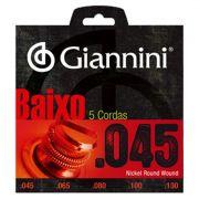 Encordoamento Giannini Baixo 5 Cordas 0.45 GEEBRS5
