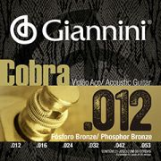 Encordoamento Giannini Cobra Violão Aço 012 GEEFLKSF Fósforo Bronze