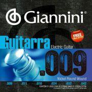 Encordoamento Giannini Guitarra Níquel 0.09 GEEGST9