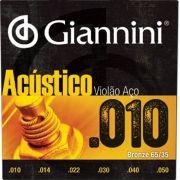 Encordoamento Giannini Violão Aço Bronze 0.10 GESWAM