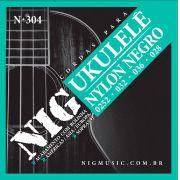 Encordoamento Nig Ukulele Soprano Nylon Negro N 304