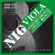Encordoamento Nig Viola Caipira Cebolão em MI NPB 550