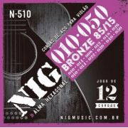 Encordoamento Nig Violão 12 Cordas Bronze 85/15 N 510