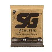Encordoamento SG Violão Aço 0.11 Fósforo Bronze