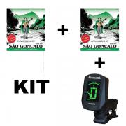 Kit 2 Encordoamentos São Gonçalo Cavaco + Afinador