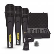Microfone Skp Pro 33k Kit C/ 3 Peças Com Case