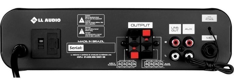 Amplificador Receiver LL Audio Nca SA 10ST Para Som Ambiente Usb Bt
