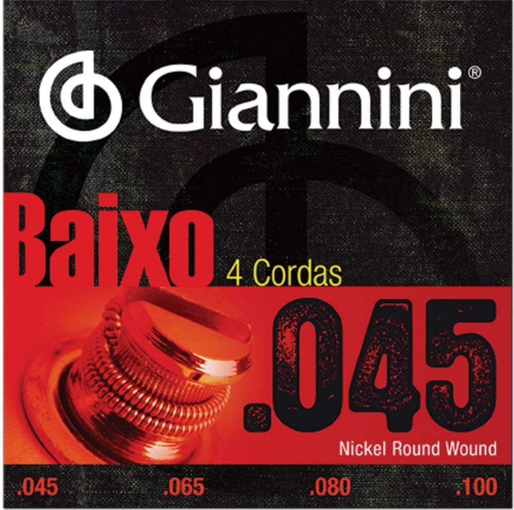 Encordoamento Giannini Baixo 4 Cordas 0.45 GEEBRS