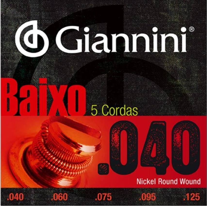 Encordoamento Giannini Baixo 5 Cordas 0.40 GEEBRL5