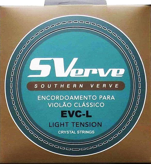 Encordoamento SVerve Violão Nylon Branco Tensão Leve EVC-L