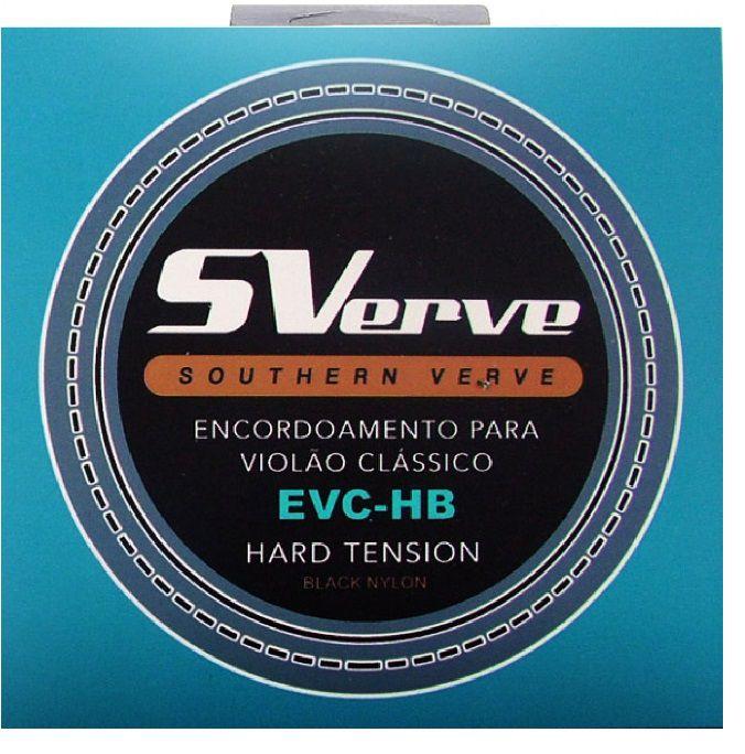 Encordoamento SVerve Violão Nylon Preto Tensão Pesada EVC-HB