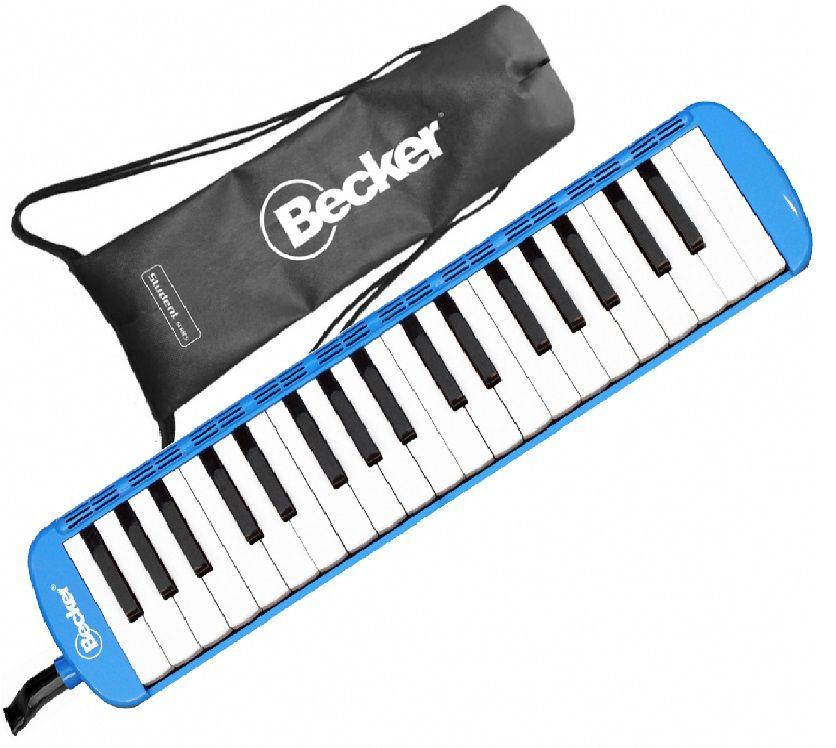 Escaleta Melódica Becker 37 teclas Azul Com Bag