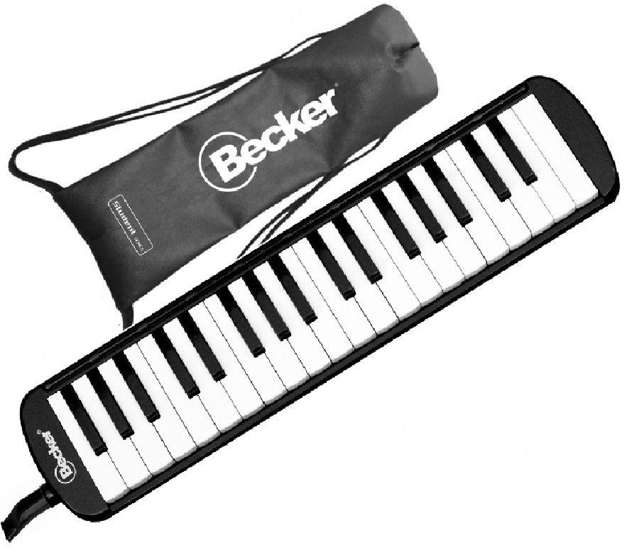 Escaleta Melódica Becker 37 teclas Preta Com Bag