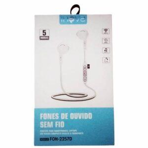 Fone de Ouvido Sem Fio Bluetooth inova FON-2257D Branco