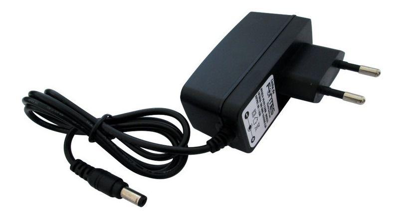 Fonte 9V 0,6A Negativo Centro Plug P8 / P4 2,5mm Bivolt