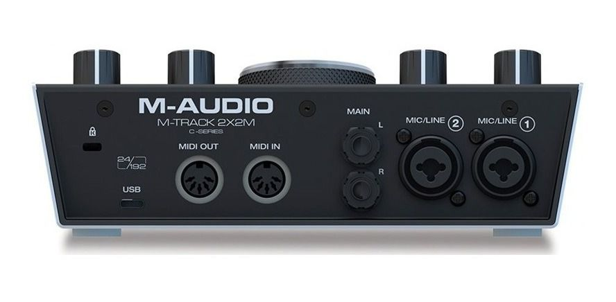 Interface de Áudio Usb Midi M-Audio MTRACK2X2M